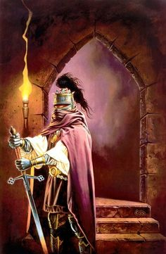 Dragonlance - Terror of Lord Soth, Knight of the Black Rose by Clyde Caldwell. Dungeons And Dragons Art, Dungeons And Dragons, Dnd Art, Fantasy Artwork, Sci Fi Art, Fantasy Illustration, Fantasy Creatures, Sword And Sorcery, Art