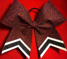 Glitter Custom made Cheer Bow by CheerbowsbyBonnie on Etsy