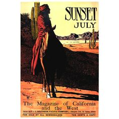 Original Maynard Dixon Sunset Magazine Poster | From a unique collection of antique and modern posters at http://www.1stdibs.com/furniture/wall-decorations/posters/