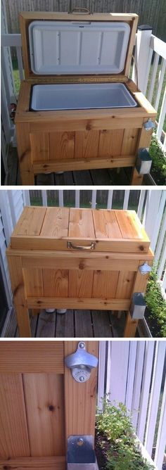 Check out how to build a DIY patio cooler stand @istandarddesign