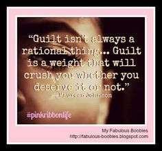 Guilt isn't always a rational thing... Guilt is a weight that will crush you whether you deserve it or not.