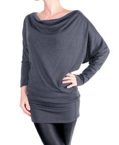 Amazon.com: LeggingsQueen Long Sleeve Fashion Basic Tunic Top: Clothing