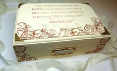 Wuthering Heights Jewelry Box If he loved you.... Heathcliff Quote by BohemiasLookingGlass, £15.00