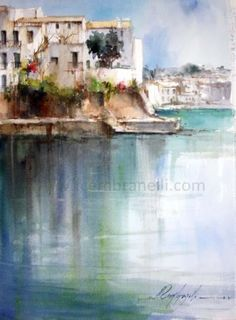 Cadaqu s, painting by artist Fabio Cembranelli  ****I love many pieces in this gallery, but I get the feeling that these are probably $$$$....beautiful works!!