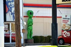 Roswell: They really do play up to it too. Extraterrestrial creatures in various forms were pretty common sights.