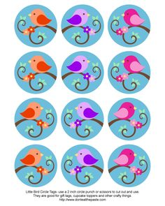 Little Bird Circle Tags - via donteatthepaste (Little Bottle Gift) Bottle Cap Jewelry, Bottle Cap Art, Bottle Cap Images, Bottle Cap Projects, Bottle Cap Crafts, Diy Bottle, 3 Little Birds, Bird Free, Fairy Coloring Pages