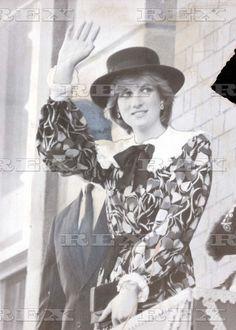 November 12, 1981: Princess Diana in Chesterfield, England.