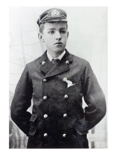 Ernest Shackleton, Aged 16, Wearing His White Star Line Uniform, 1890