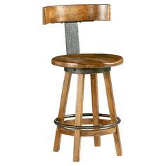 Showcasing a swivel seat and rustic dark oak finish, this lovely barstool is perfect for enjoying fresh cocktails and light lunches at your kitchen island...