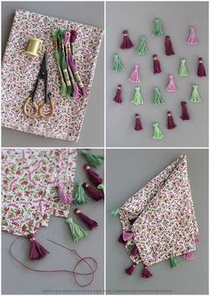 DIY Tassel Napkins for Craft Cafe | Flickr - Photo Sharing!