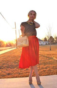 Blouse: J.crew, Skirt: Style with Shannon, Shoes: Sam Edelman, Bag: Zara