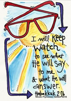 I Will Keep Watch Habakkuk Illustrated by nicplynel on Etsy Bible Verse Art, Scripture Cards, Memory Verse, Bible Scriptures, Bible Quotes, Healing Scriptures, Irish Quotes, Healing Quotes, Heart Quotes