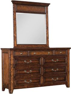 Shadow Mountain Dick Idol Legends Hand Tooled Leather Rustic Dresser Chest Shadow Mountain