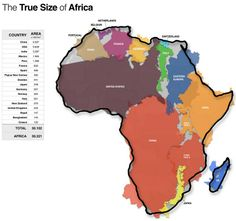 true size of africa mikey b maps