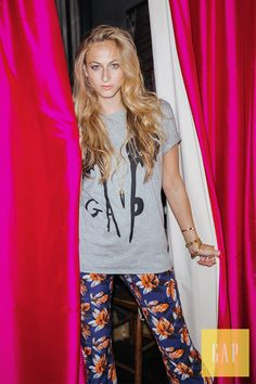 Dress up your favorite graphic tee with a fun pair of summer pants. Refinery29's Annie Greenberg wears her Gap Remix Project tee designed by artist Quentin Jones. Shop the limited-edition collection of tees featuring Gap's iconic logo remixed by 11 leading-edge artists.