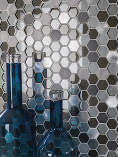 Nuevos mosaicos hexagonales para la colección Fusion de L'Antic Colonial #Porcelanosa #revestimientos