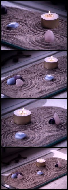 Recreate a day at the beach with purple sand in a Zen Garden. Then you can always have the tranquility of the sea with you even if you're miles from the beach!                                                                                                                                                      More