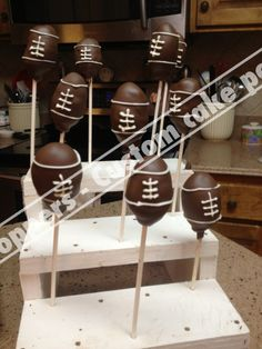 What a cute idea for football season! I love me some cake pops!
