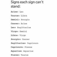 It depends. I get along really well with other Aquarians but there aee 1 or 2 Aquarians that i sometimes cant stand... however, i find that i typically cant stand Capricorns (some) and Libras...... #Aquarius