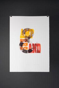 ampersand Typography Love, Cool Lettering, Block Lettering, Hand Lettering, Pretty Letters, Photography Illustration, Letterpress Printing, Visual Communication, Graphic Design Inspiration