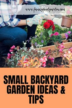 Here are some tips and ideas for planning and designing your small backyard garden. Small Backyard Gardens, Small Space Gardening, Gardening For Beginners, Gardening Tips, Flower Gardening, Indoor Gardening, Vegetable Gardening, Autumn Garden, Small Trees