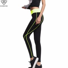 B.BANG 2016 Fitness Women Running Leggings Sports Elastic Pants for Yoga Gym Women Sport Trousers Running Tights M/L #clothing,#shoes,#jewelry,#women,#men,#hats,#watches,#belts,#fashion,#style