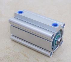 bore 32mm x100mm stroke SMC compact CQ2B Series Compact Aluminum Alloy Pneumatic Cylinder #Affiliate
