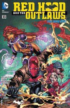 Koriand'r (Starfire) and Jason Todd (Red Hood) -- baby names Heros Comics, Dc Comics Art, Dc Heroes, Marvel Dc Comics, Cosmic Comics, Free Comics, Marvel Jokes, Marvel Vs, Comic Book Covers