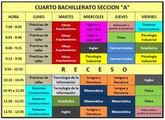 Horario de clases - Instituto Técnico Diversificado de Bachillerato en Construcción