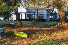 """Gorgeous accommodation from Airbnb: An island in the sun, Jackett Island, Tasman, New Zealand.   """"Hop in a Kayak on the high tide and Kayak around the island and Estuary, enjoying the bird  life or maybe do a spot of fishing."""""""