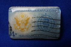 Vintage 1962 World United Against Malaria 4 cent by JewelReMotion, $15.99
