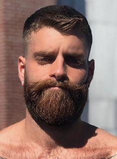 Great Beards, Awesome Beards, Beard Styles For Men, Hair And Beard Styles, Hairy Men, Bearded Men, Beard Suit, Brown Beard, Shirtless Hunks