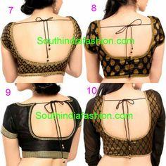 black brocade saree blouse designs