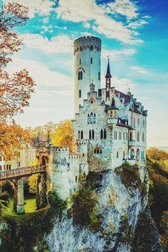 Golden October Castle by Daniel Vogelbacher Schloss Lichtenstein / Germany