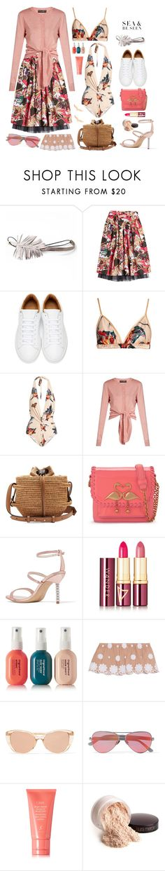 """Summer Vibes"" by sue-mes ❤ liked on Polyvore featuring Maggie Mowbray Millinery, Marc Jacobs, Katie Eary, Dolce&Gabbana, Khokho, Sophia Webster, Wander Beauty, Original & Mineral, Miguelina and Linda Farrow"