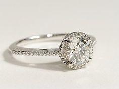 Blue Nile Halo Diamond Engagement Ring