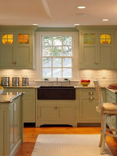 Kitchen Reproduction Sinks Design, Pictures, Remodel, Decor and Ideas - page 16....upper glass and lit up