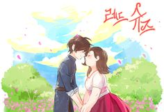 red shoes and the 7 dwarfs fanart Anime Couples Drawings, Cute Anime Couples, Couple Drawings, Merlin, 7 Dwarfs, Seven Dwarfs, Lovers Hug, Cute Couple Art, Love Illustration