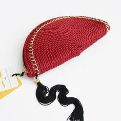 ● Cartera de cordón de seda   Modelo CARMEN   Diseño de OLVIDO MADRID