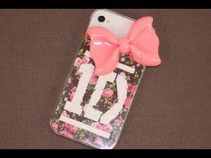 Diy iPhone phone case One Direction 1D directioner directioners ♥ One Direction iPhone Case! pink bow! DIY- Custom iPhone Cover | ShowMeCute