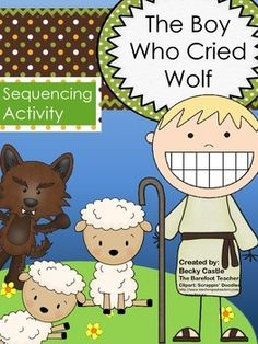 The Boy Who Cried Wolf fable Sequencing activities for your Kindergarten or First Grade students. Mix them up and put them back in order on the corresponding page. Kindergarten Readiness, Kindergarten Classroom, Classroom Ideas, Sequencing Activities, Activities For Kids, Space Activities, Preschool Activities, Fables For Kids, Fairy Tales Unit