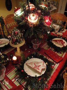 22....nice Christmas table setting