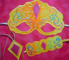 In The Hoop Princess mask Set 1 Machine Embroidery Design. $4.99, via Etsy.