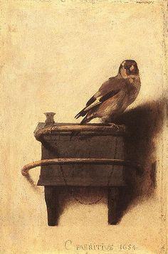 Goldfinch - Carel Fabritius rustic art