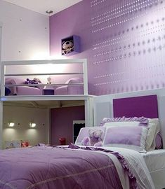 Very cute girls room! Love the reading loft!