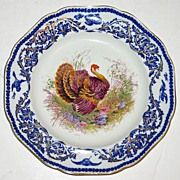 Hand Painted Vintage Turkey Plate by Royal Cauldon  Camden House Antiques Found on Ruby Lane