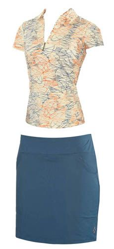 4all by JoFit Ladies Golf Outfits (Shirt & Skort) - Acapulco