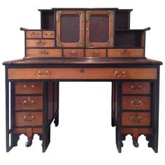 Rare Walnut Desk in the Anglo-Japanese Style Designed by Thomas Jeckyll | 1stdibs.com