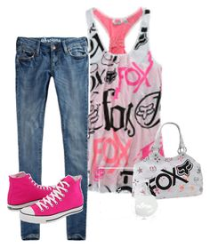 """""""i love this outfit"""" by aliciaijonasbrothers ❤ liked on Polyvore featuring PacSun, Nollie and Converse"""