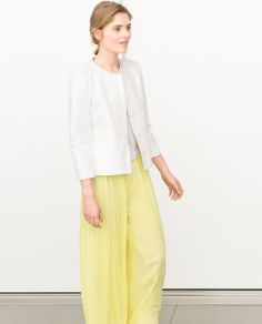 Image 2 of PLEATED PALAZZO TROUSERS from Zara
